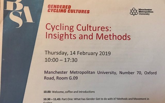 Report of the recent Cycling Cultures: Insights and Methods conference by Jo Somerset