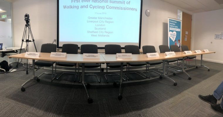 Report on the first ever Cycling and Walking Commissioners' National Summit, 17 June 2019