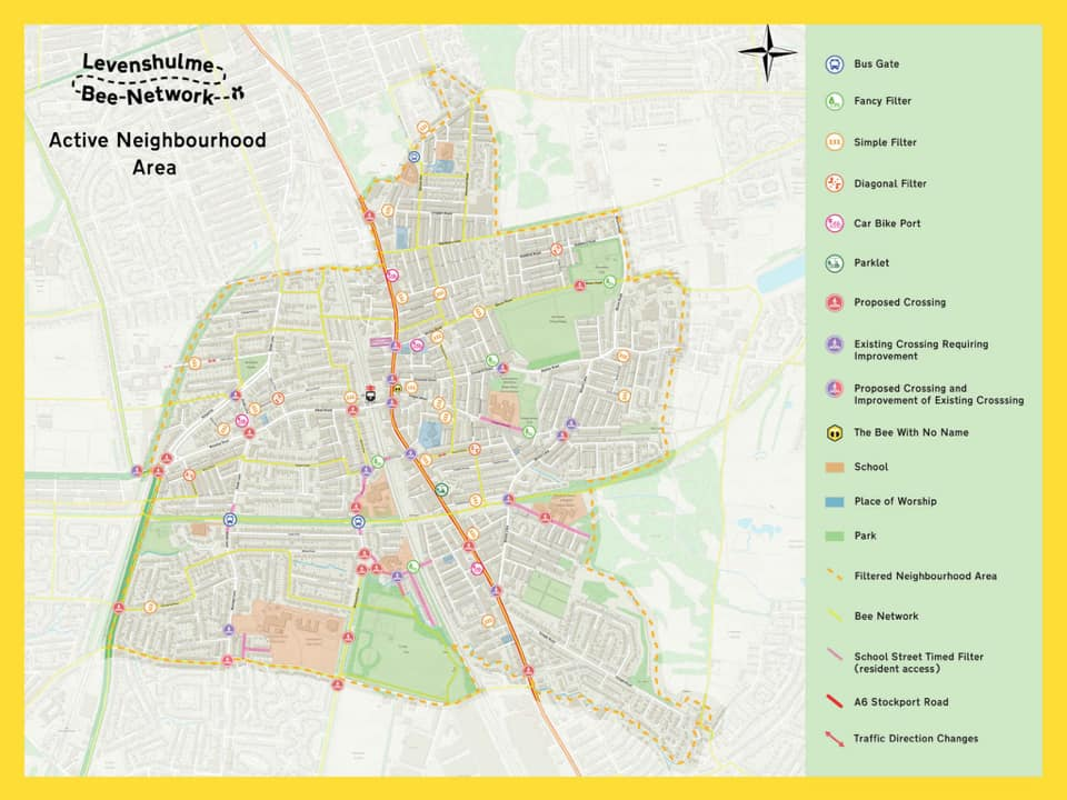 Levy Bee Network filtered neighbourhoods