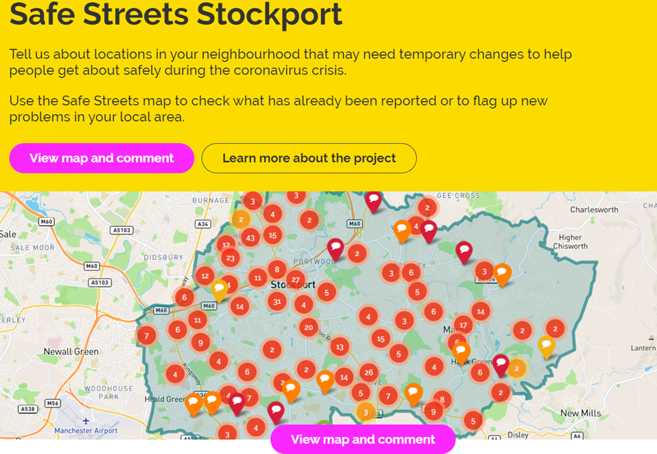 Tell Us Where in Greater Manchester You Need Help Walking or Cycling Safely During Lockdown