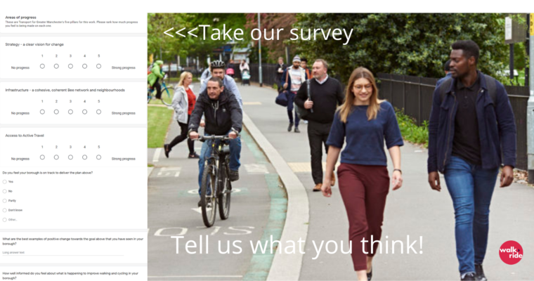 WHAT DO YOU THINK? How's the plan going to transform walking and cycling in Greater Manchester?