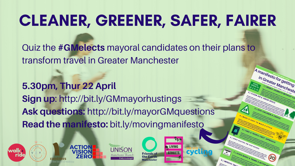 Cleaner, Greener, Safer, Fairer: 10 ways for Greater Manchester's new mayor to transform travel