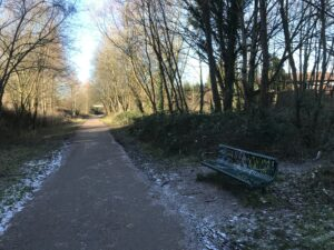 There are very few benches on the Fallowfield loop